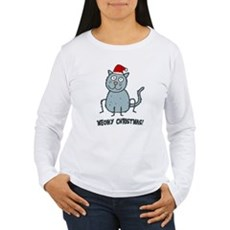 Meowy Christmas Christmas Cat Long Sleeve T-Shirt