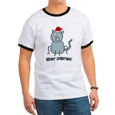 Meowy Christmas Christmas Cat T-Shirt
