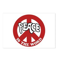 Peace is the word Postcards (Package of 8)