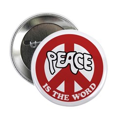 Peace is the word Button