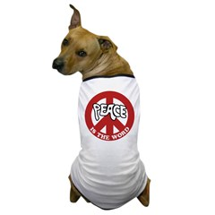 Peace is the word Dog T-Shirt