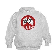 Peace is the word Kids Hoodie