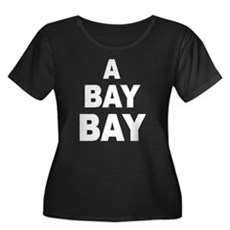 A Bay Bay Womens Plus Size Scoop Neck Dark T-Shir