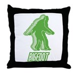 Bigfoot Silhouette Throw Pillow - Own a piece of this cryptid mystery, own your Big Foot T-shirt and other cool Big Foot gift items today! 30-day satisfaction & money back guarantee!