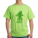 Bigfoot Silhouette Green T-Shirt - Own a piece of this cryptid mystery, own your Big Foot T-shirt and other cool Big Foot gift items today! 30-day satisfaction & money back guarantee! - Availble Sizes:Small,Medium,Large,X-Large,2X-Large (+$3.00) - Availble Colors: Green