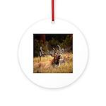 huntin elk Round Ornament
