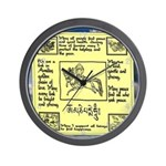 Buddhist yellow wind flag Wall Clock
