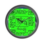 Buddhist Green Wind Flag Wall Clock