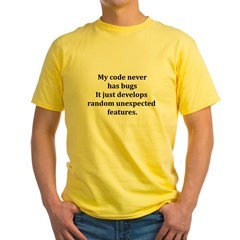 Code Bug Free Yellow T-Shirt