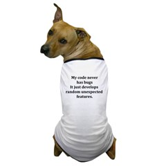 Code Bug Free Dog T-Shirt