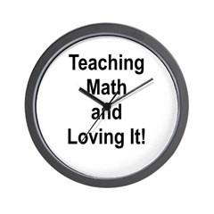 Teaching Math And Loving It! Wall Clock
