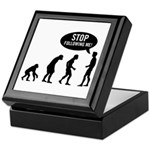 Evolution is following me Keepsake Box - Availble Colors: Black,Mahogany