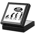 Evolution is following me Keepsake Box - Availble Colors: Black,Mahogany