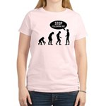 Evolution is following me Women's Light T-Shirt - Availble Sizes:Small,Medium,Large,X-Large,2X-Large (+$3.00) - Availble Colors: Light Yellow,Light Pink,Light Blue