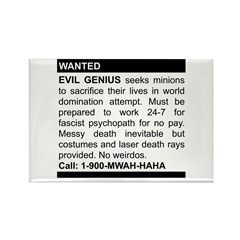 Evil Genius Personal Ad Rectangle Magnet (10 pack)
