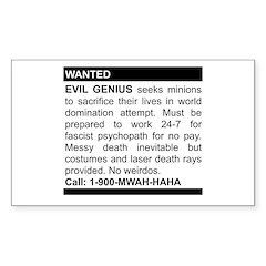 Evil Genius Personal Ad Rectangle Sticker