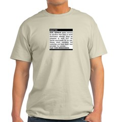 Evil Genius Personal Ad Light T-Shirt