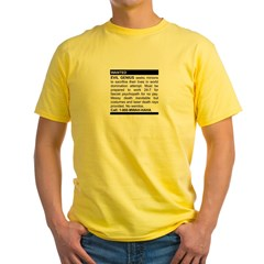 Evil Genius Personal Ad Yellow T-Shirt