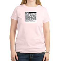 Evil Genius Personal Ad Women's Light T-Shirt