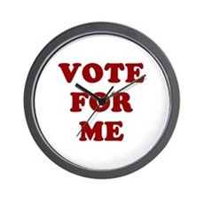 Vote For Me Wall Clock