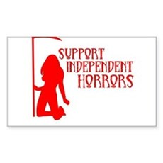 Support Independent Horrors Rectangle Sticker