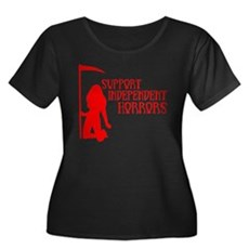 Support Independent Horrors Womens Plus Size Scoo