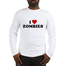 I Love [Heart] Zombies Long Sleeve T-Shirt