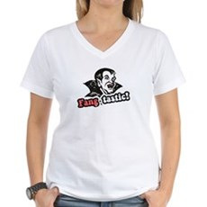 Fang-tastic! Womens V-Neck T-Shirt