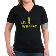 Lil' Wheezy Womens V-Neck T-Shirt