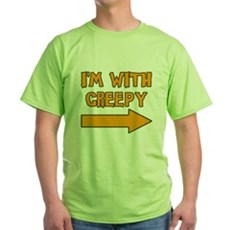 I'm With Creepy Green T-Shirt
