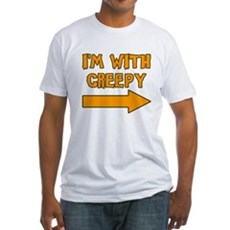 I'm With Creepy Fitted T-Shirt