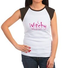 Witchy Woman Womens Cap Sleeve T-Shirt