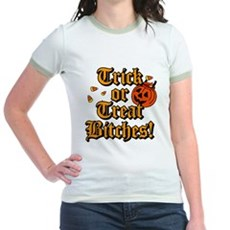 Trick or Treat Bitches! Jr Ringer T-Shirt