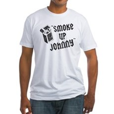 Smoke Up Johnny Fitted T-Shirt