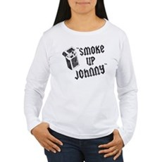 Smoke Up Johnny Womens Long Sleeve T-Shirt