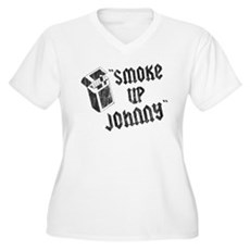 Smoke Up Johnny Plus Size V-Neck Shirt