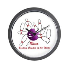 Reno Bowling Capital Of The World Wall Clock