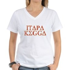 ITAPA KEGGA (Greek) Womens V-Neck T-Shirt