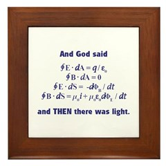 And God Said Framed Tile
