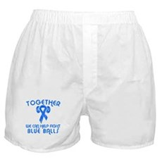 Help Fight Blue Balls Boxer Shorts