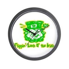 Flippin' Luck O' the Irish Wall Clock