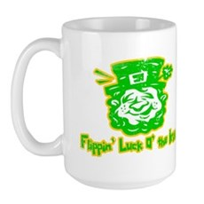 Flippin' Luck O' the Irish Large Mug