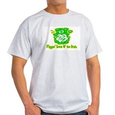 Flippin' Luck O' the Irish Ash Grey T-Shirt