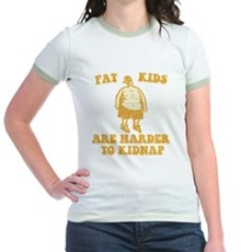 Fat Kids are Harder to Kidnap Jr Ringer T-Shirt