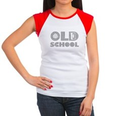 Old School (Distressed) Womens Cap Sleeve T-Shirt