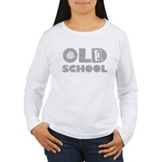 Old School (Distressed) Womens Long Sleeve T-Shir