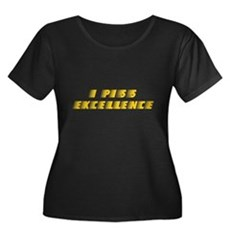 I Piss Excellence Womens Plus Size Scoop Neck Dar