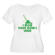I Mow Your Mom's Lawn Womens Plus Size Scoop Neck