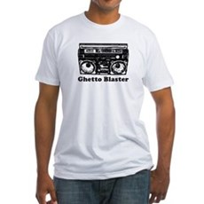 Ghetto Blaster Fitted T-Shirt