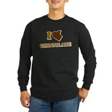 I Love [Heart] Chocolate Long Sleeve T-Shirt